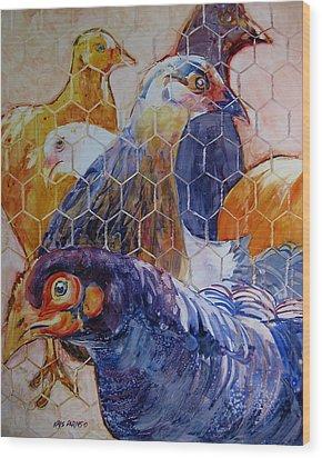 Wet Hens Wood Print by Kris Parins