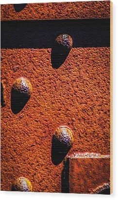 Wet Rivets  Wood Print by Bob Orsillo