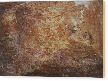 Wood Print featuring the photograph Wet Rock by J L Zarek