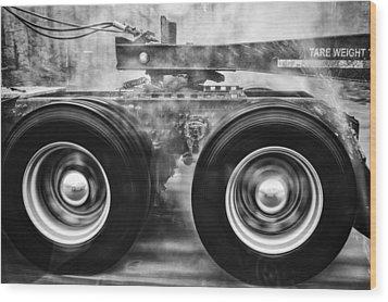 Wet Wheels Wood Print by Robert  FERD Frank