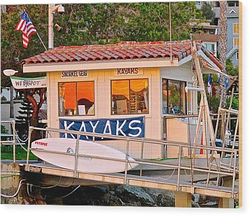 Wetspot Kayak Shack Wood Print
