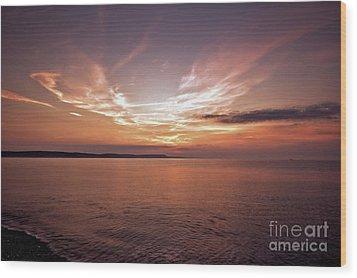 Weymoth Morning Glory Wood Print by Stephen Melia