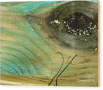 Whale Eye Wood Print by Michael Cinnamond
