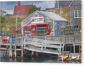 Wharf Hags Peggy's Cove Wood Print by Betsy Knapp