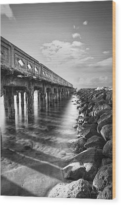 Wood Print featuring the photograph Wharf by Hawaii  Fine Art Photography