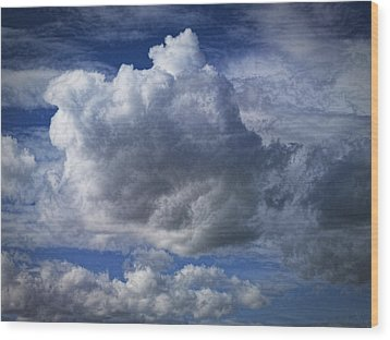 What A Cloud Wood Print by Nafets Nuarb