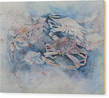 What A Crab Wood Print