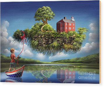 Wood Print featuring the painting What A Wonderful World by Sgn