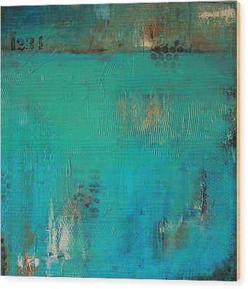 Blue Lagoon Wood Print by Lauren Petit