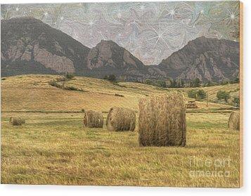 What The Hay Wood Print by Juli Scalzi