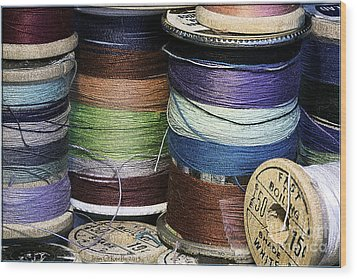 Spools Of Thread Wood Print