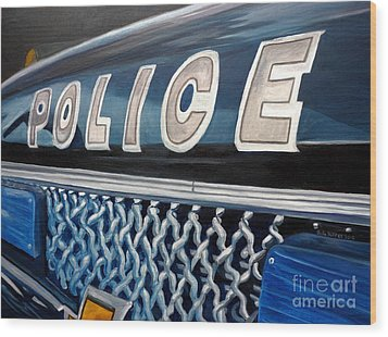 Whatcha Gonna Do When They Come For You? Wood Print by Julie Brugh Riffey