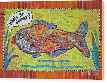 What's For Dinner Wood Print by Susan Rienzo