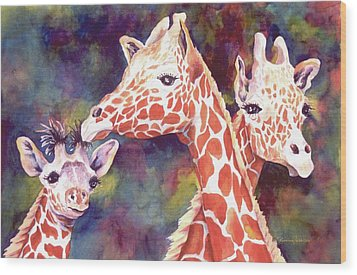 What's Up Dad - Giraffes Wood Print