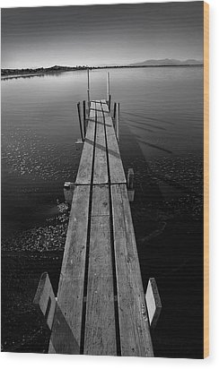 Whats Up Dock Wood Print by Peter Tellone