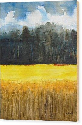 Wheat Field 1 Wood Print by Carlin Blahnik