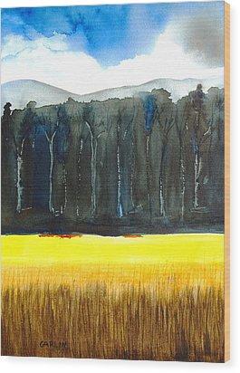 Wheat Field 2 Wood Print by Carlin Blahnik