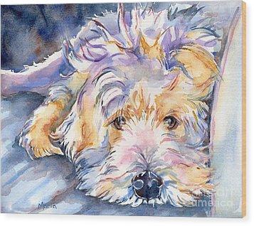Wheaten Terrier Painting Wood Print