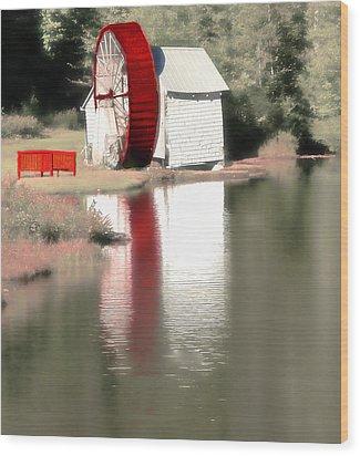 Wheel House Wood Print by Raymond Earley