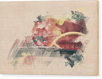 Wheel II. Wood Print by Martin Dzurjanik