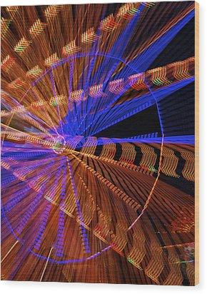 Wheel Of Light Wood Print