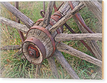 Wheel Of Old Wood Print by Marty Koch