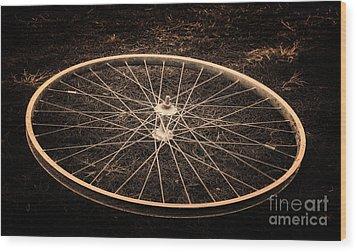 Wheel Wood Print by Sinisa Botas