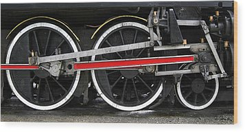 Wheels Of The Kingston Flyer Wood Print by Joe Bonita