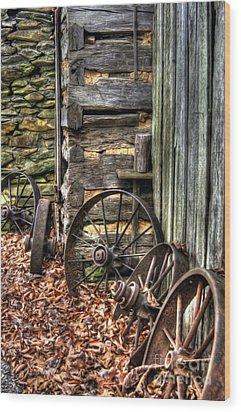 Wheels Of Time Wood Print