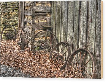 Wheels Of Time Two Wood Print by Benanne Stiens