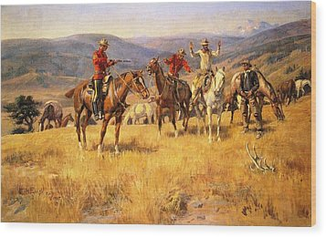 When Law Dulls The Edge Of Chance Wood Print by Charles Russell