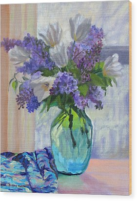 When Lilacs Bloomed Wood Print