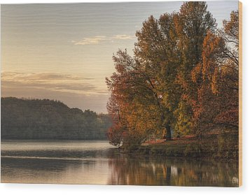 When Morning Arrives Wood Print by Jeff Burton