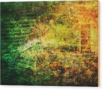 Wood Print featuring the mixed media When Past And Present Intersect #1 by Sandy MacGowan
