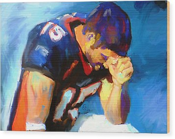 When Tebow Was A Bronco Wood Print by GCannon