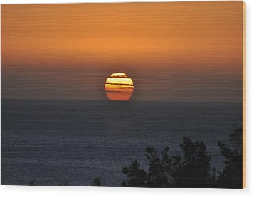 Wood Print featuring the photograph When The Sun Sets by Sabine Edrissi