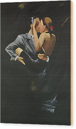 Wood Print featuring the painting When We Tango by Sheri  Chakamian