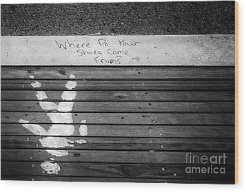 Where Do They Come From? Wood Print by John Farnan