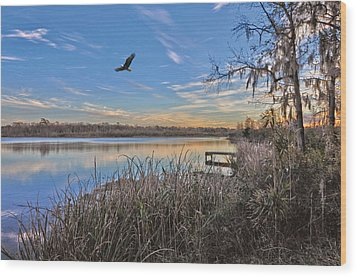 Where Eagles Fly Wood Print by Donnie Smith