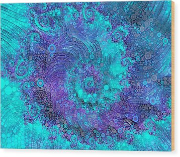 Where Mermaids Play Wood Print
