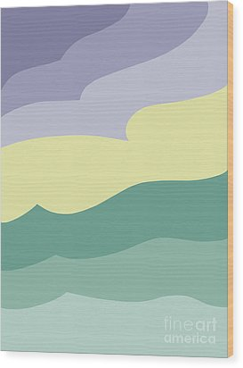 Where Sea Meets Sky Wood Print by Henry Manning