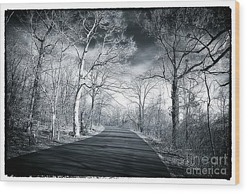 Where The Road Leads Wood Print by John Rizzuto