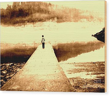 Where The Sidewalk Ends Wood Print by Amy Sorrell