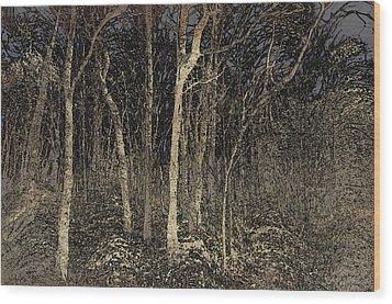 Where The Wild Things Hide Wood Print