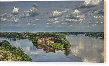Where Two Rivers Meet Wood Print by Julis Simo