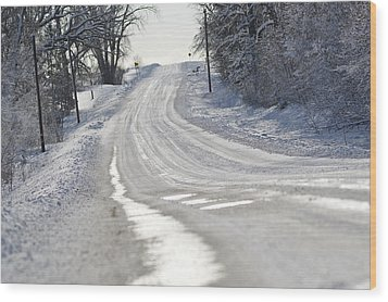 Wood Print featuring the photograph Where Will The Road Take You? by Dacia Doroff