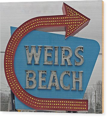 Where's Weirs? Wood Print by Barbara McDevitt