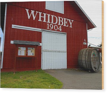 Whidbey's Greenbank Farm Wood Print by Kay Gilley