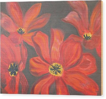 Whimsical Floral Wood Print