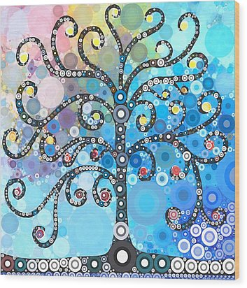Whimsical Tree Wood Print